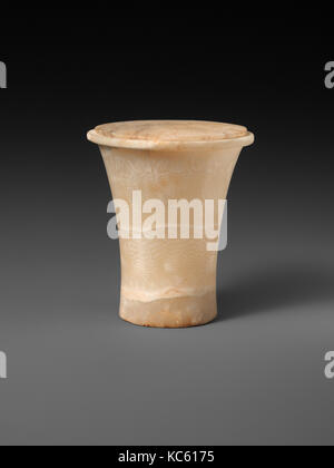 Cylindrical unguent vase with a lid, ca. 1887–1750 BC - Stock Photo
