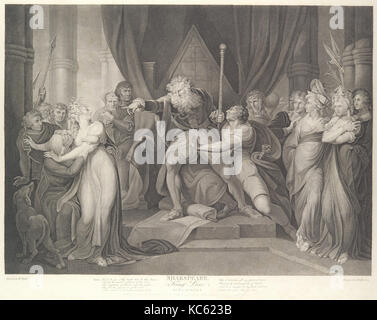 King Lear Casting Out His Daughter Cordelia (Shakespeare, King Lear, Act 1, Scene 1), After Henry Fuseli, August - Stock Photo