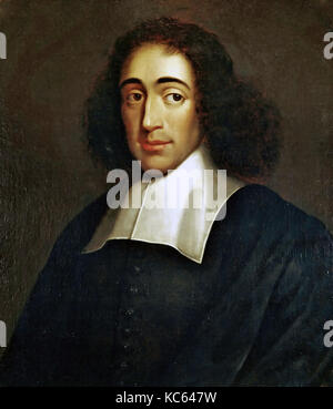 BARUCH SPINOZA (1632-1677) Dutch philosopher about 1665 by unknown artist. - Stock Photo