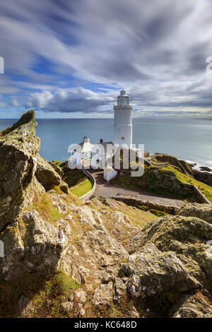 Start Point Lighthouse in South Devon. - Stock Photo