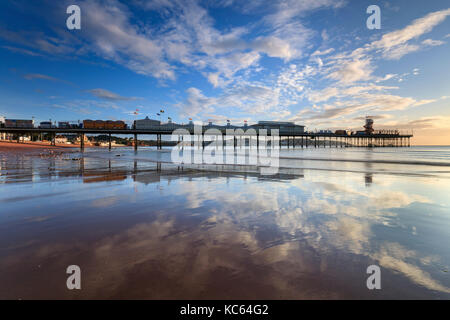 Paignton Pier on the South Coast of Devon - Stock Photo