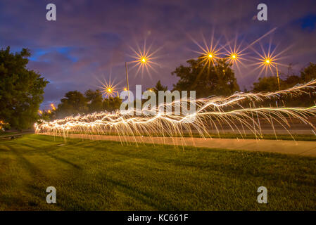 Trail from bengal lights - Stock Photo