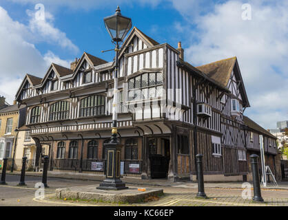 Tudor House, a Grade 1 listed building and museum in Bugle Street Southampton in 2017, England, Uk - Stock Photo