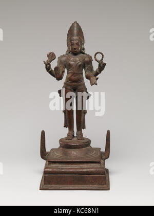 Shiva as Pashupati, Chola period (880–1279), ca. 12th century, India, Copper alloy, H. 10 3/4 in. (27.3 cm); W. - Stock Photo