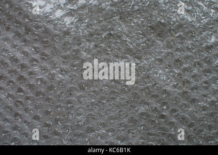 close up on bubble film texture or background - Stock Photo