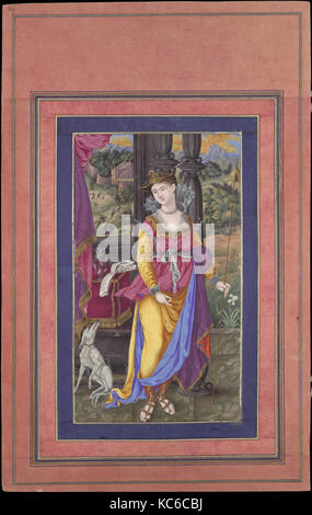 'Diana, Goddess of the Hunt', Folio from the Davis Album, early 17th century - Stock Photo