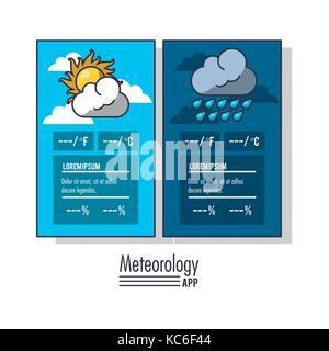 Meteorology infographic report - Stock Photo