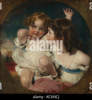 The Calmady Children (Emily, 1818–?1906, and Laura Anne, 1820–1894), Sir Thomas Lawrence, 1823 - Stock Photo