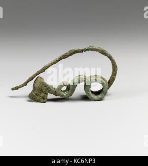 Fibula, serpentine type, Bronze, Other: 3 1/8 in. (7.9 cm), Bronzes - Stock Photo