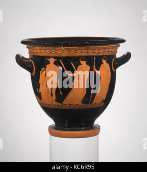 Terracotta bell-krater (bowl for mixing wine and water), ca. 440 B.C - Stock Photo