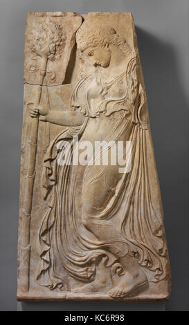 Marble relief with a dancing maenad, ca. 27 B.C.–A.D. 14 - Stock Photo