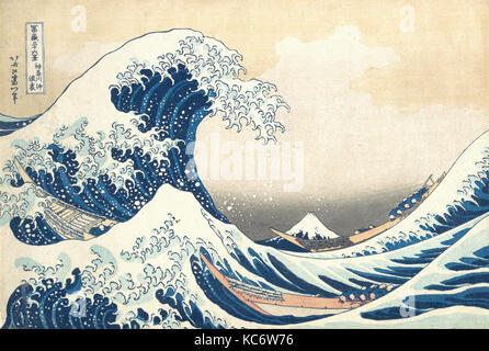 Under the Wave off Kanagawa (Kanagawa oki nami ura), also known as The Great Wave, from the series Thirty-six Views - Stock Photo
