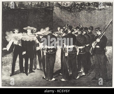 The Execution of the Emperor Maximilian (L'exécution de Maximilien), Édouard Manet, 1868 - Stock Photo