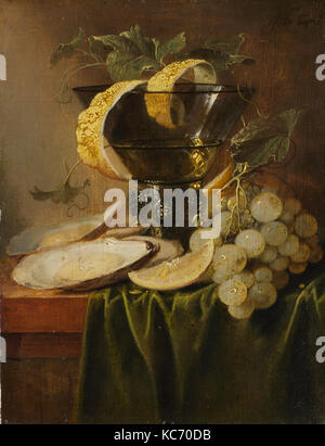 Still Life with a Glass and Oysters, Jan Davidsz de Heem, ca. 1640 - Stock Photo