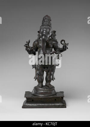 Standing Ganesha, Chola period (880–1279), 12th century, India (Tamil Nadu), Copper alloy, H. 25 1/2 in (64.8 cm), - Stock Photo