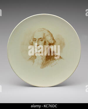 George Washington, 1840–83, Made in France, French, Faience, Diam. 8 3/4 in. (22.2 cm), Ceramics, After Gilbert - Stock Photo