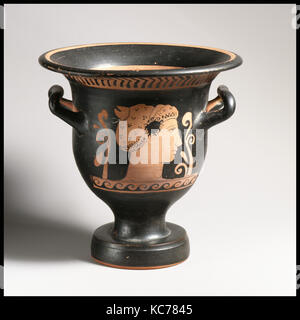 Terracotta bell-krater (bowl for mixing wine and water), ca. 350–325 B.C - Stock Photo