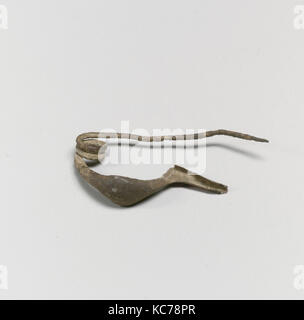 Fibula, boat-shaped type, Bronze, Other: 1 5/8 in. (4.1 cm), Bronzes - Stock Photo