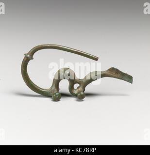 Fibula, serpentine type, Bronze, Other: 2 3/8 in. (6 cm), Bronzes - Stock Photo