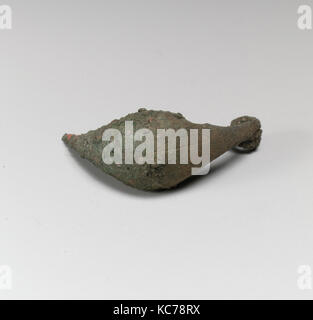 Fibula, boat-shaped type, Bronze, Other: 2 in. (5.1 cm), Bronzes - Stock Photo