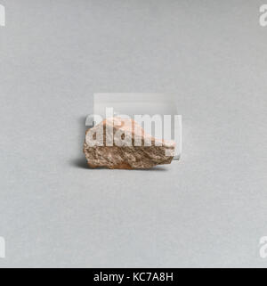 Vase fragment, Greek, Lydian, Terracotta, Overall: 2 3/8 x 9/16in. (6 x 1.5cm), Vases - Stock Photo