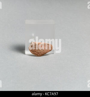 Vase fragment, Greek, Lydian, Terracotta, Overall: 1 1/8 x 9/16in. (2.8 x 1.5cm), Vases - Stock Photo