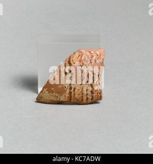 Skyphos fragment, East Greek/Sardis, Lydian, Terracotta, Overall: 1 15/16 x 1 1/2in. (5 x 3.8cm), Vases - Stock Photo