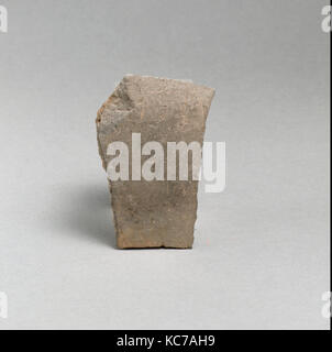 Vase fragment, Greek, Lydian, Terracotta, Overall: 1 1/4in. (3.2cm), Vases - Stock Photo