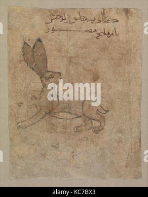 'Hare', Folio from the Mantiq al-wahsh (Speech of the Wild Animal) of Ka'b al-Ahbar, 11th–12th century - Stock Photo