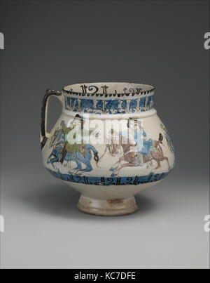 Ewer with Horsemen Inscribed in Arabic with Good Wishes to its Owner, second half 12th–early 13th century - Stock Photo