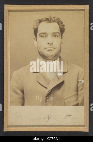 Dauriac. Henri, Georges. 36 ans, né à Memphis (USA). Agent d'affaires. Extortion de fonds. 22/12/94., Alphonse Bertillon, - Stock Photo