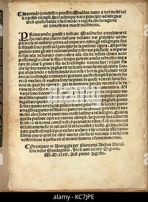 Esemplario di Lauori..., page 14 (verso), August 1, 1532 - Stock Photo