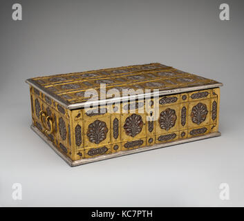 Writing Box with Lattice and Flower Design, mid-17th century - Stock Photo