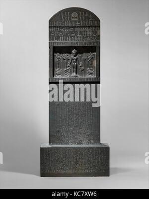 Magical Stela (Cippus of Horus), Late Period, Dynasty 30, 360–343 B.C., From Egypt, Alexandria Region, Alexandria - Stock Photo