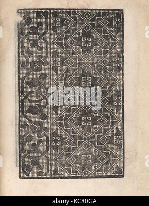Ornamento delle belle & virtuose donne, page 17 (recto), 1554 - Stock Photo
