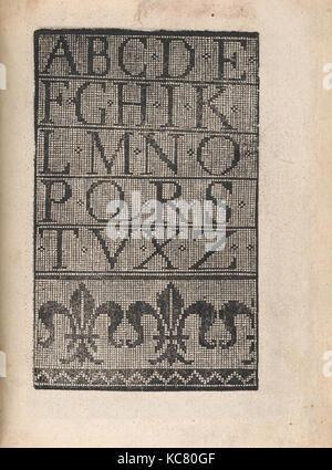 Ornamento delle belle & virtuose donne, page 18 (recto), 1554 - Stock Photo