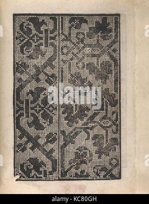 Ornamento delle belle & virtuose donne, page 19 (recto), 1554 - Stock Photo