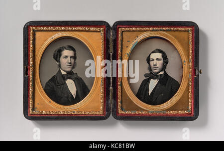 Double Plate: Two Men with Sideburns, Possibly by John Adams Whipple, 1850s - Stock Photo