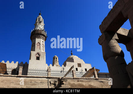 Luxor Temple Mosque of Abu el-Haggag, Africa, Upper Egypt, UNESCO World-heritage - Stock Photo