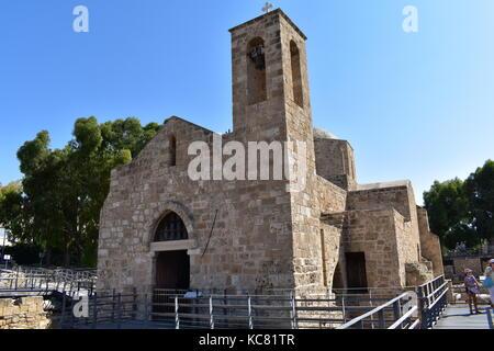 Early Christian Basilica of Panagia Chrysopolitissa and the Agia Kyriaki church in Kato Pafos, Cyprus. - Stock Photo