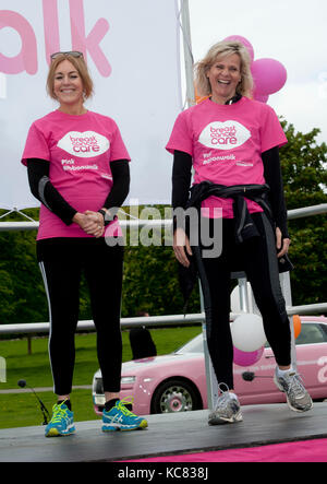 Helen Fospero, Linda Barker took part in the  Pink Ribbon walk around grounds of Blenheim Palace by Brian Jordan - Stock Photo