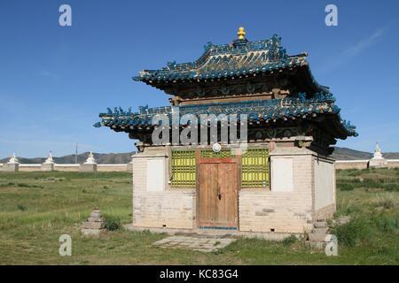 Small temple in Erdene Zuu Monastery, Mongolia - Stock Photo