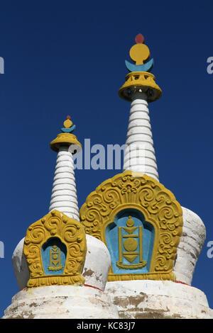Stupas of Erdene Zuu Monastery - Stock Photo