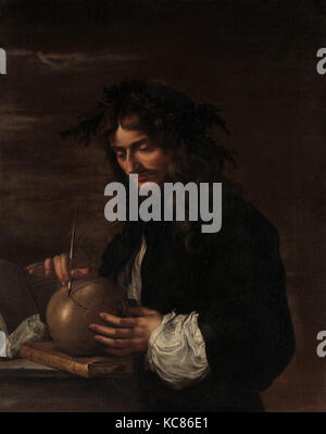 Self-Portrait, ca. 1647, Oil on canvas, 39 x 31 1/4 in. (99.1 x 79.4 cm), Paintings, Salvator Rosa (Italian, Arenella - Stock Photo