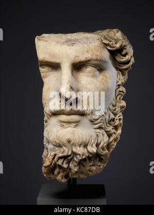 Marble portrait of the co-emperor Lucius Verus, A.D. 161–169 - Stock Photo
