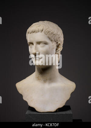 Marble portrait bust of the emperor Gaius, known as Caligula, A.D. 37–41 - Stock Photo