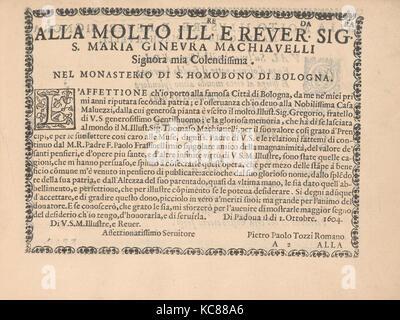 Ghirlanda: Di sei vaghi fiori scielti da piu famosi Giardini d'Italia, page 2 (recto), October 1, 1604 - Stock Photo