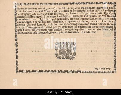 Ghirlanda: Di sei vaghi fiori scielti da piu famosi Giardini d'Italia, page 3 (verso), October 1, 1604 - Stock Photo