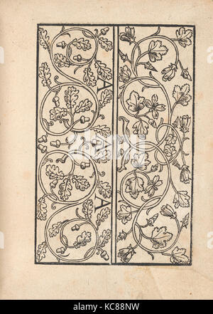 Ein new Modelbuch..., page 4 (verso), October 22, 1524 - Stock Photo