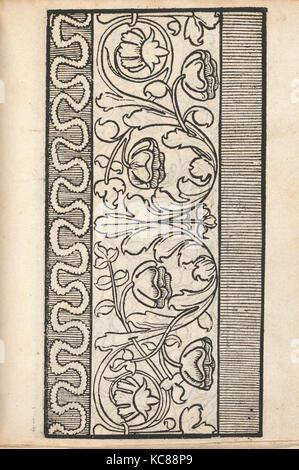 Ein new Modelbuch..., page 7 (verso), October 22, 1524 - Stock Photo